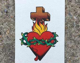 Traditional Sacred Heart Print