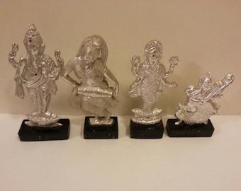 Set of Four Hindu Figurines
