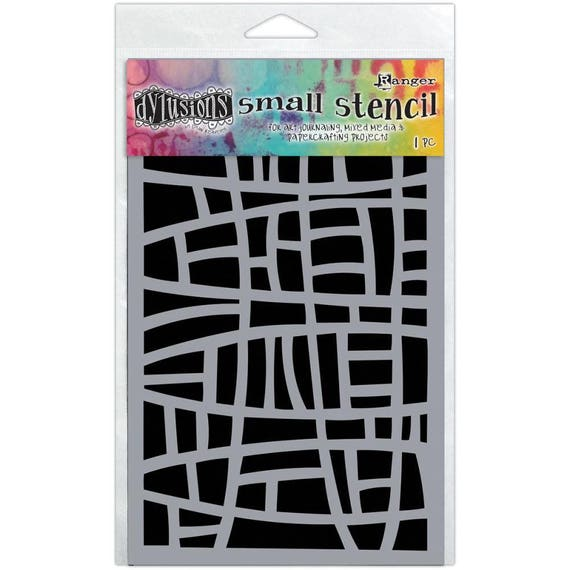"Dyan Reaveley's Dylusions Stencils 5""X8""  small stained glass design perfect for mixed media, scrapbooking, journaling and so much more"
