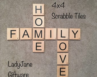 Scrabble Tiles/Wall Art 4x4