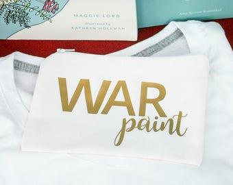 War Paint Make up Bag | Makeup bag | Cosmetic Pouch | Bridesmaid gift | Bridesmaid makeup bag | Cosmetic Bag