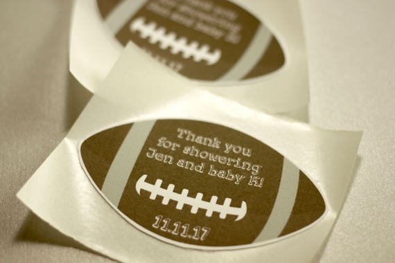 Football Themed Thank You Stickers Baby Shower Decorations Set