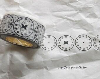 1x rouleau de masking tape - horloges, esprit steampunk
