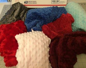Minky Fabric Scraps--Remnant Box of Minky Fleece Scrap Fabric--Minky Destash--Assorted Colors and Sizes--Over 4.5 Pounds Minky Scrap Fabric