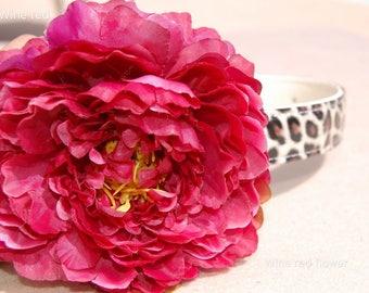 Beautiful big flower with cute leopard dog collar,Moddern wedding dog collar.Birthday party dog collar.pet fahsion, Pet Birthday gift