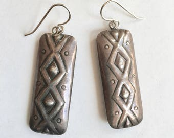 vintage Mexican sterling earrings, upcycled