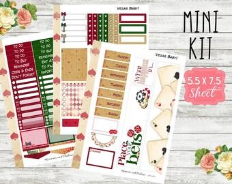 Vegas Baby Mini Kit - Las Vegas Planner Stickers - Weekly Planner Sticker Kit - Planner Sticker Mini Kit - Vacation Sticker Kit