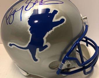 Barry Sanders AUTOGRAPHED Detroit Lions full size Helmet w/JSA