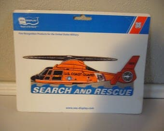 PATCH - Search and Rescue Iron-on Patch - US Coast Guard Patch - Helicopter Patch