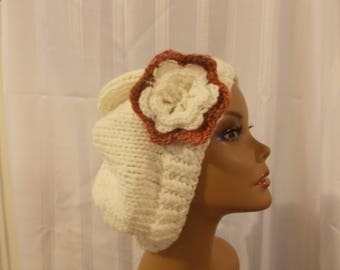 Knitted Slouch Hat - Large
