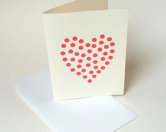 """The card """"The strainer heart"""" and with its envelope"""