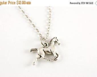 25% OFF SALE Tiny Pony Necklace, Horse Jewelry, Under 15, Gift for Her