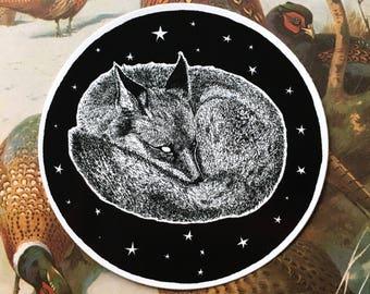 Sleepy Fox Vinyl Sticker