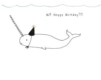 Gnarwhal Card