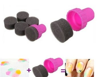 Foam pad + 4 refills for nail art - don't miss your grades