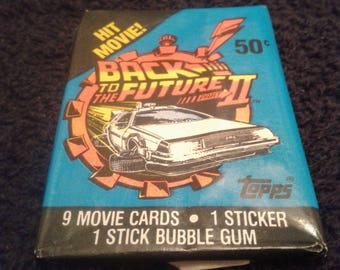 Unopened Topps Back to the Future Part 2 Trading Cards Wax Pack Collectible Gift for Him