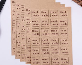 Handmade Product Stickers for Your Products Craft Paper Design Vintage Adhesive Stickers DIY Gift Label