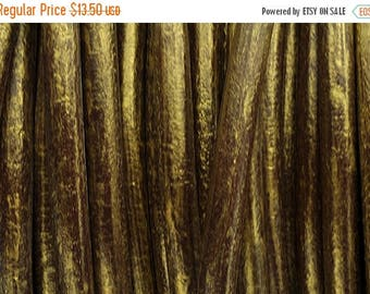 """30% Off 5ft/60""""  - 5MM Round Leather Cord - Distressed Antique Gold"""