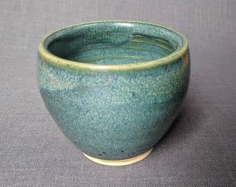 Small Green Cup or Tumbler / Handmade Pottery / Homemade Ceramic Tumbler