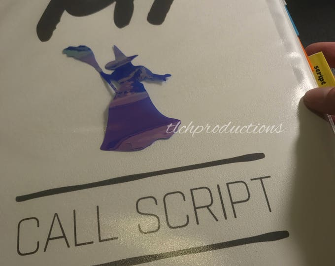 Wicked Broadway Holographic Witch Sticker