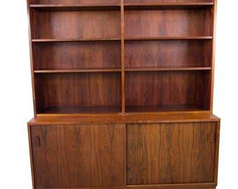 Liby Mobel Rosewood Bookcase Mid Century Modern Danish