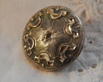 W H Jones & Co. Golden Age Button with Center Diamond Shape Circa 1835 - 1840