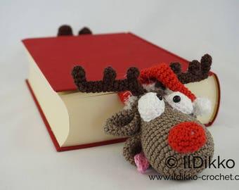 Amigurumi Crochet Pattern - Rudolf the Reindeer Bookmark