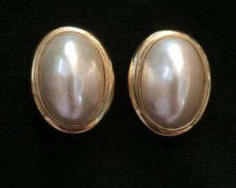 Ciner Mabe Pearl Clip On Earrings Large - S2223