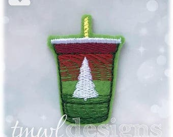 Evergreen Lemonade Drink Feltie Digital Design File - 1.75""