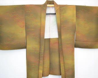 HAORI JACKET G65a - Khaki Brown Gradation Autumn Grass
