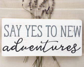 Adventure sign | Custom Hand painted Wood Sign,  small wood sign,  wood wedding sign, handlettered wood sign