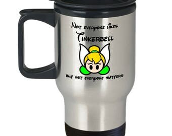 Everyone Likes Tinkerbell Gift Travel Mug Coffee Disney Pixie Dust Disneyland