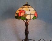Stained Glass Lamp - Floral Theme