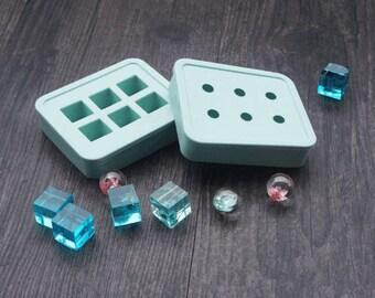Gem Silicone Mold - Resin Cabochon Mold - craft mold,cabochon mold, jewelry mold, food mold, resin mold, clay mold, flexible mold