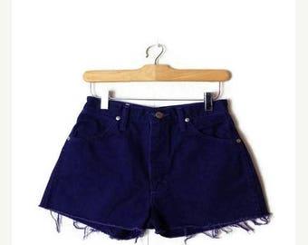 ON SALE Cintage Wrangler Purple Denim Cut off Shorts/W25*