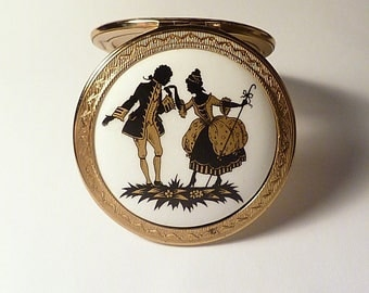 GIFTS FOR HER / girlfriends / wives rare & romantic Regent of London compact mirror 1950s