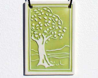 Fruit Tree Porcelain Relief Print