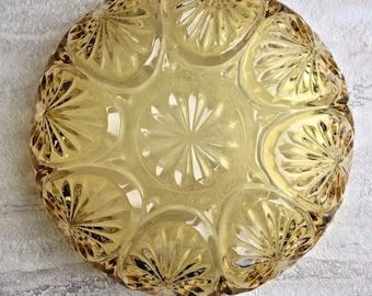 Art Deco Yellow Glass Dish