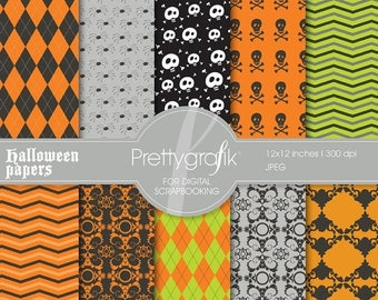 80% OFF SALE Halloween digital paper, commercial use, scrapbook papers, background - PS550