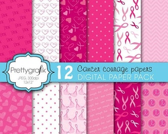 80% OFF SALE cancer ribbon digital paper, commercial use, scrapbook papers, background - PS608