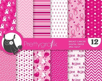80% OFF SALE 80 Percent 0FF Sale Breast cancer digital paper, papers commercial use,  scrapbook papers, scrapbooking papers - Ps825