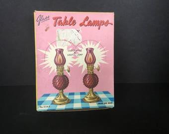 Table Top Oil Lamps - Original Box