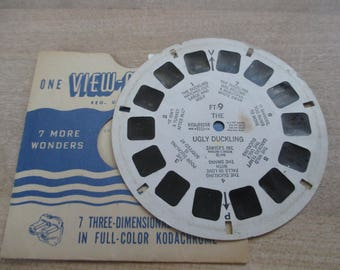 Vintage, Antique Viewmaster reels - THe Ugly Duckling  - FT-9 - 1948 No longer produced - from collection of over 100 reels.