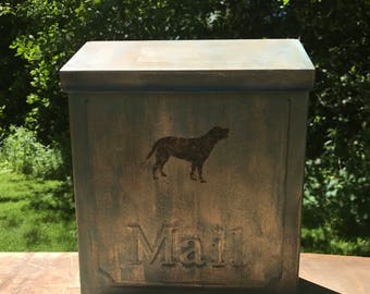 Copper Verde Patina, Indoor /Outdoor, wall mounting Mailbox