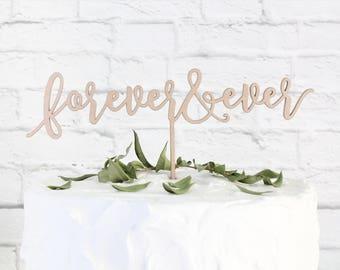 Forever & Ever Cake Topper, Wedding Cake Topper, Custom Cake Topper, DIY Cake Topper