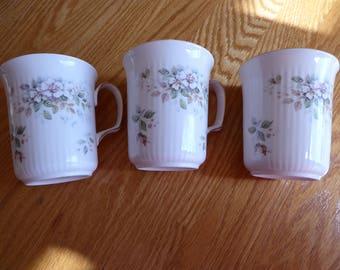 Royal Albert Set of Three HAWORTH Mugs Ribbed Style