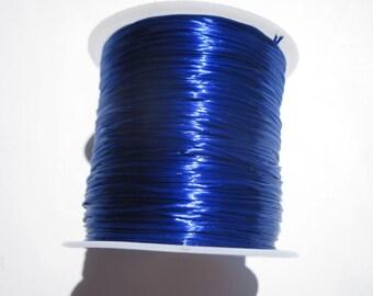 5 meters of thread blue color elastic on cardboard (7).