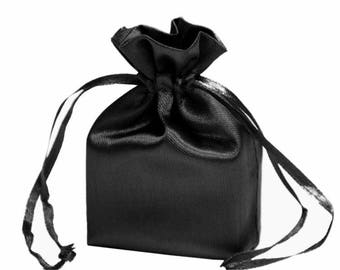 Large Black Satin Gift Bag