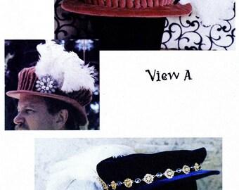 Men's Elizabethan Italian Bonnet Hat Costume Sewing Pattern sizes S-XL by Lynn McMasters
