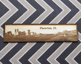Peoria City Skyline Magnet